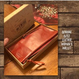Genuine GZCZ Leather Woman's Wallet